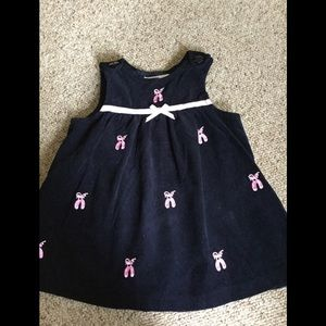 Girls 18 mo. Navy corduroy ballet jumper
